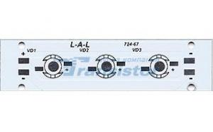 Плата 100x25-4E Emitter (4x LED, 724-117)