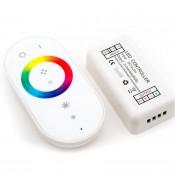 Контроллер RGB радиоуправляемый с белым сенсорным пультом 12/24в 18А