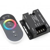 Контроллер RGB радиоуправляемый с черным сенсорным пультом 12/24в 24А