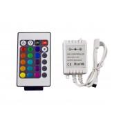 Контроллер RGB 6A инфракрасный с пультом 24 кнопки 12/24V 6А