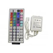 Контроллер RGB инфракрасный  с пультом 44 кнопки 12/24в 6А