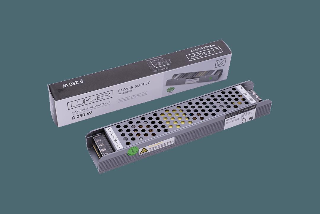 Блок питания для светодиодной ленты LUX компактный, 12В, 250Вт, IP20