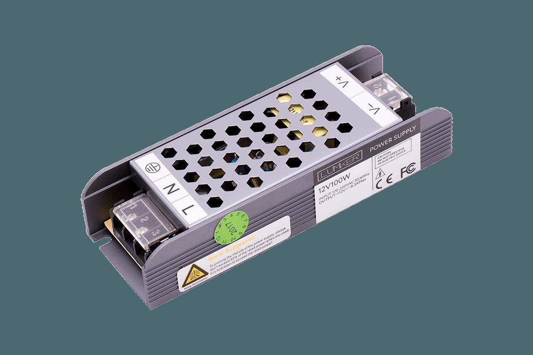Блок питания Lumker LUX компактный, 12В, 100Вт, IP20