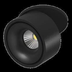 Светильник светодиодный потолочный встраиваемый Поворотный, серия MJ-1015, Черный, 8Вт, IP20, Теплый белый (3000К)