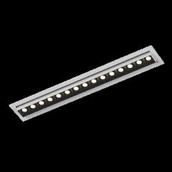 Светильник светодиодный потолочный встраиваемый Наклонный, серия DL-UM9, Белый + черный, 18Вт, IP20, Теплый белый (3000К)