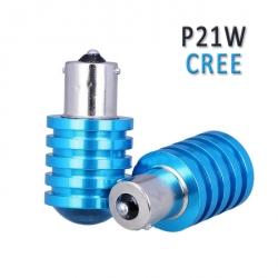 Автомобильная светодиодная лампа Р21W / BA15S / S25 ,5W,CREE c цоколем 1156 одноконтактная.