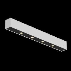 Светильник светодиодный потолочный накладной , серия FA, Черно-белый, 5,3Вт, IP20, Теплый белый (3000К)