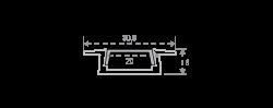 3006х2 Профиль для всех двухрядных лент встраиваемый 2м