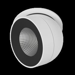 Светильник светодиодный потолочный встраиваемый Поворотный, серия FA, Черно-белый, 12,4Вт, IP20, Теплый белый (3000К)