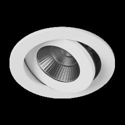 Светильник светодиодный потолочный встраиваемый Наклонный, серия FA, Белый, 7,5Вт, IP54, Теплый белый (3000К)