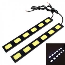 Дневные ходовые огни Car Profi CP-COB-6 SMD 10-15V, раздельные плоские