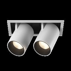 Светильник светодиодный потолочный встраиваемый Поворотно-выдвижной, серия SPL, Матовый белый + черный, 12Вт, IP20, Нейтральный белый (4000К)
