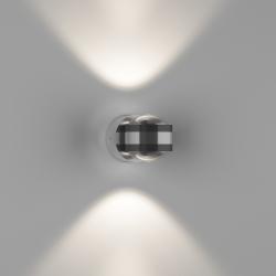 Бра двухстороннее поворотное с линзой LUPA D, Серебро, 6Вт, 4500K, IP20, GW-095-2-6-SL-NW