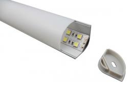 Профиль алюминиевый угловой накладной 3030 с экраном