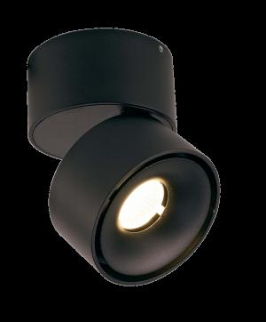 Светильник светодиодный потолочный накладной Поворотный, серия WL, Черный, 12Вт, IP20, Теплый белый (3000К)