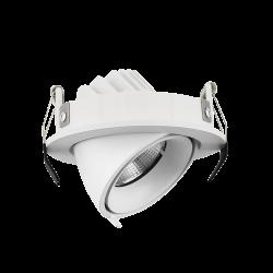 Светильник светодиодный потолочный встраиваемый Наклонный, серия IMD, Белый, 10Вт, IP20, Теплый белый (3000К)