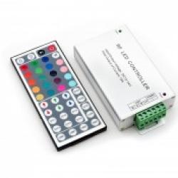 Контроллер RGB радиоуправляемый с пультом 24 кнопки 12/24в 12А