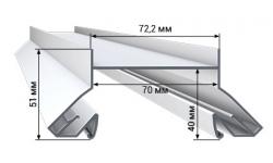 Профиль LumFer N01-WH/BK НИША