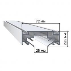 Профиль LumFer PL01-WH/BK Парящая линия