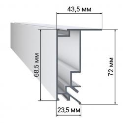 Профиль LumFer BP01-WH/BK безрамный потолок